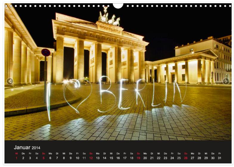 """Das Brandenburger Tor mit Lightpainting-Schriftzug """"Berlin"""" von Marcus Klepper."""