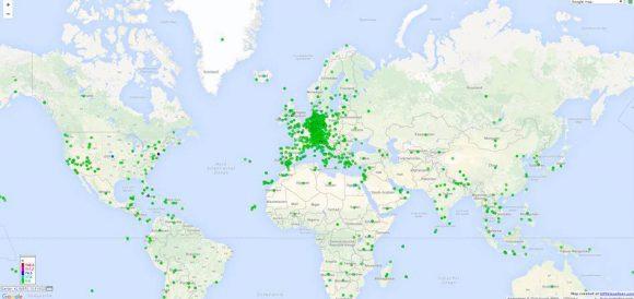 Weltkarte-Regiotitel
